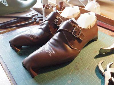 靴の釣り込み工程