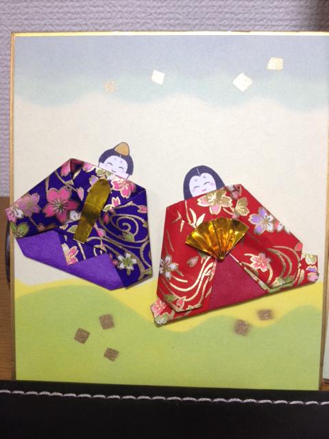 すべての折り紙 三人官女 折り紙 : 2014年02月:花うさぎのお茶時間
