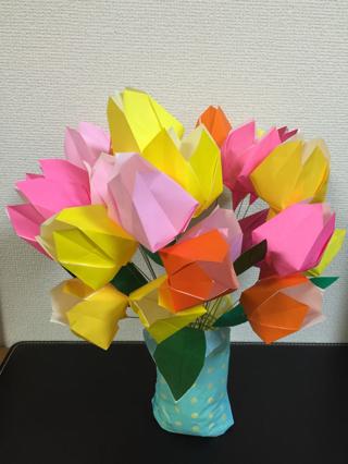 ハート 折り紙 : 折り紙 花 簡単 チューリップ : hanausagi46.ti-da.net