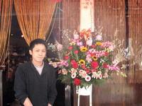1周年祝いのスタンド花
