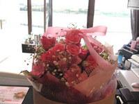 お届けした花束、BOX仕様
