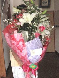 誕生日祝いの花束