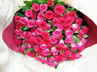大きなバラの花束でした