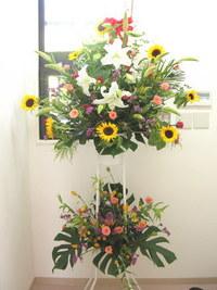 開所祝いのスタンド花
