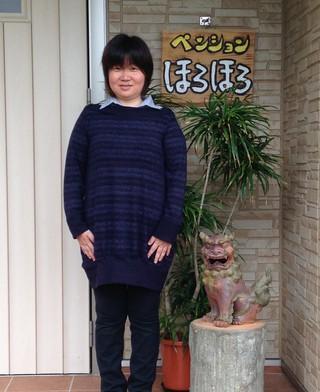 田邊さん玄関にて