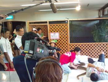 OTV「スポんちゅ」の撮影ロケがありました。:おきなわワールド NEWS!