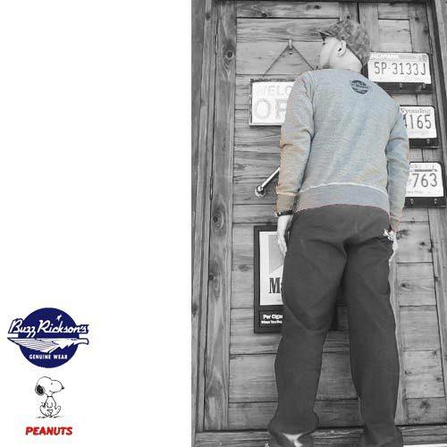 ポルタアンドゲートPORTAANDGATEバズリクソンズ【BUZZRICKSONS 】PEANUTS SNOOPY EDWARDS AIR FORCE BASE CREW NECK SWEAT SHIRTS(エドワードエアフォースベーススウェットシャツ)送料無料