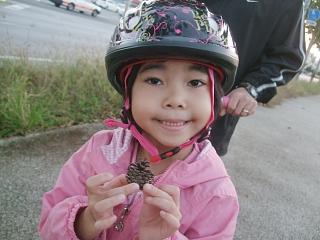 自転車の 歩き 自転車 運動量 : 途中でマツボックリを拾い ...
