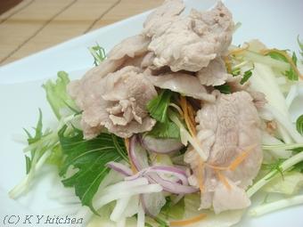 あぐー豚の豚しゃぶサラダレシピ (豚しゃぶレシピ)